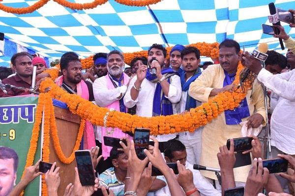 pappu yadav and chandrasekhar addressed public meeting