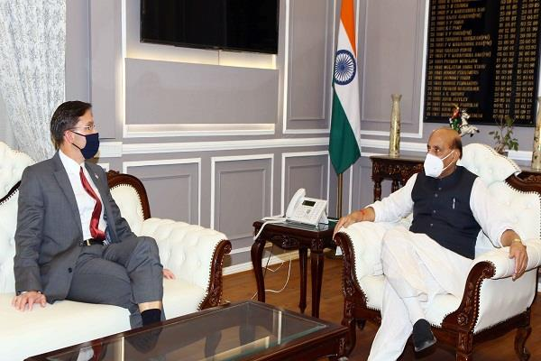 defense minister rajnath singh meets us counterpart before 2  2 meeting