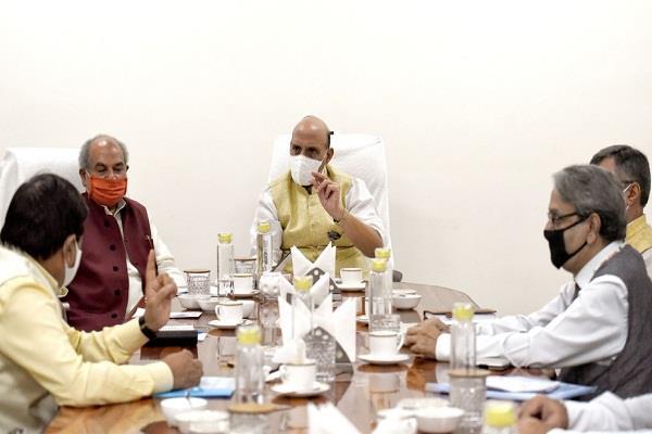 rajnath singh and narendra singh tomar meet with farmer leaders