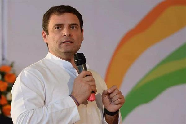 rahul gandhi targeted the center said  modi government cheated farmers