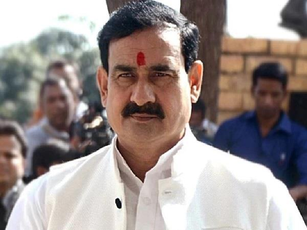 home minister narottam mishra is taunting the congress