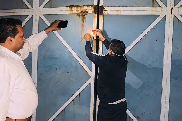 3 illegal buildings sealed after the order of commissioner