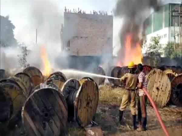 fire in industry