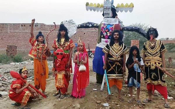 children first performed ramlila and then burned ravan