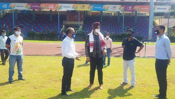 sports minister sandeep singh reaches assam