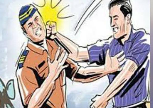 fierce fighting between police personnel