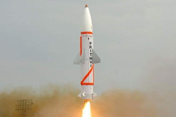 successful night trial of prithvi 2 missile capable of carrying nuclear warheads