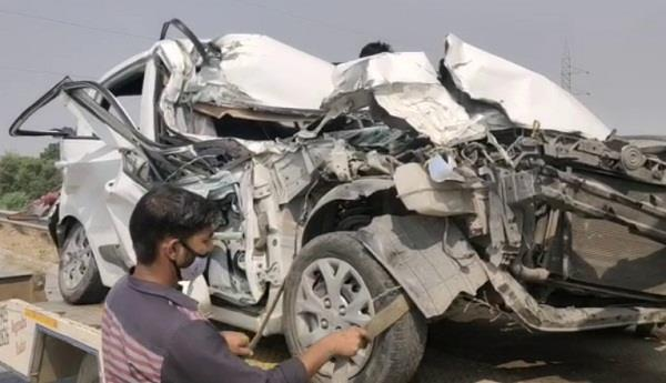 father son died in road accident