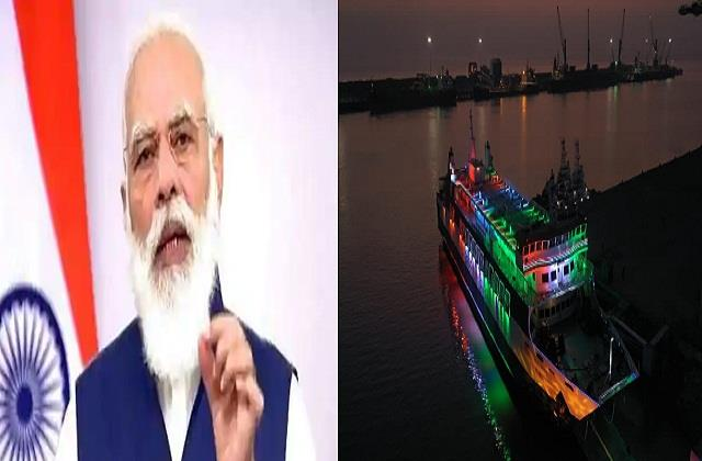 pm modi to start ro packs ferry service in gujarat today