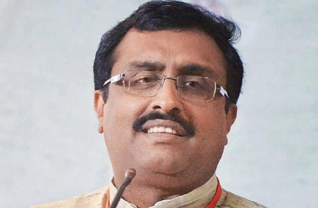 off the record ram madhav rising star of bjp on the floor with arsh