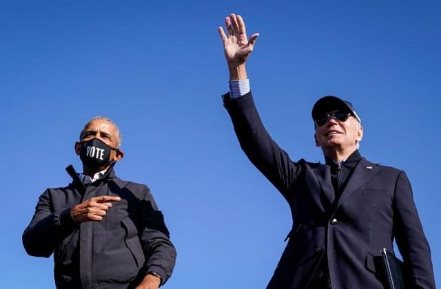 former us president obama wishes biden victory