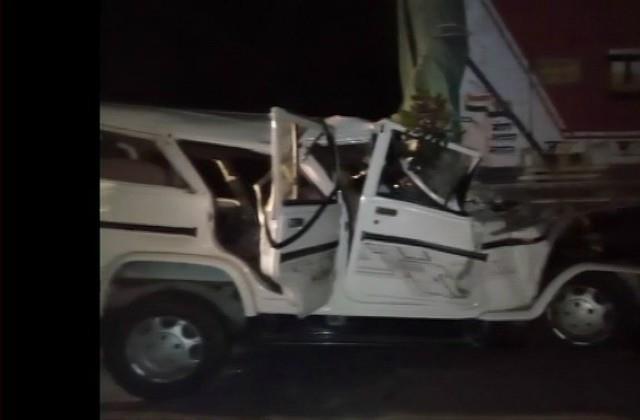 horrific road accident in pratapgarh 14 killed