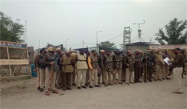 5 companies of police deployed on rohtak jhajjar border