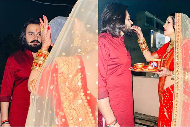 sapna chaudhary shared beautiful pictures on karva chauth