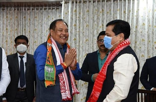 2 senior bpf leaders in assam join bjp