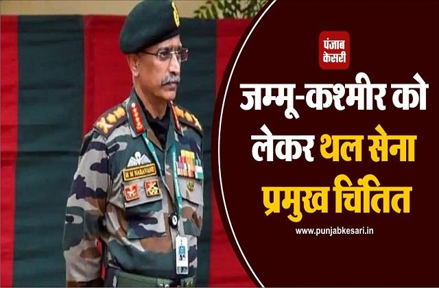army chief worried about jammu and kashmir