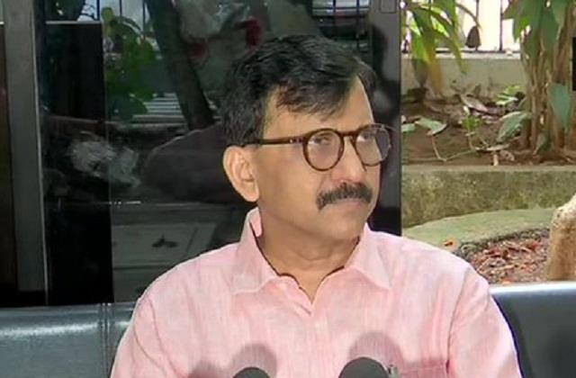 sanjay raut came to the support of mumbai police