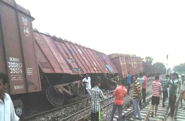 big rail accident in kasganj derailed goods train go