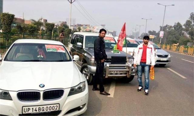 miscreants firing on the streets of ghaziabad bmw cars in the