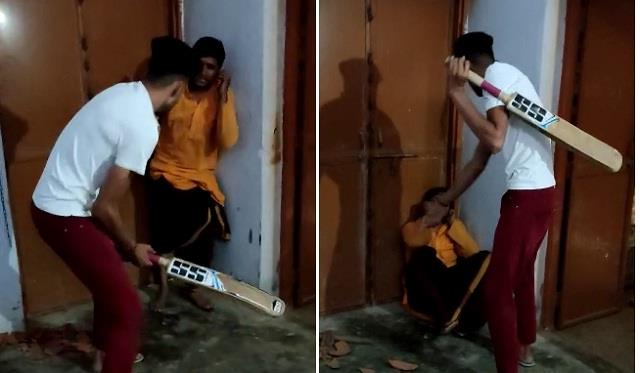 temple priest beaten ruthlessly by people