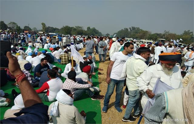 farmers of haryana thunder in protest against agricultural laws