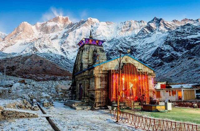 union minister shared beautiful video of baba kedarnath