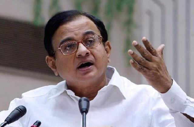 chidambaram attacks modi government country is moving towards recession