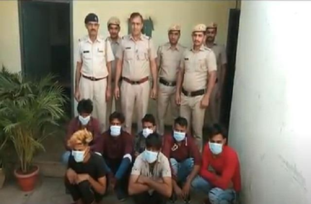 sonipat 7 gang members arrested for carrying out robbery cases