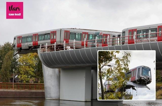 बैरियर तोड़कर स्टेशन से बाहर निकली ट्रेन, व्हेल की पूंछ ने बड़ा हादसा होने से रोका