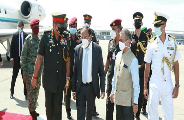 nsa ajit doval arrives in sri lanka