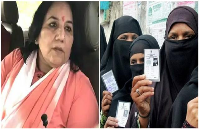 bjp candidate alleges fake vote said  muslim women vote to remove the burqa