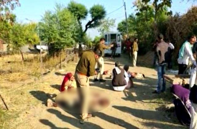 three people were crushed by a tractor in hoshangabad