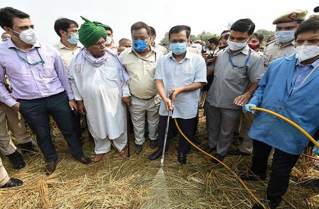 delhi government found an economical way to burn stubble
