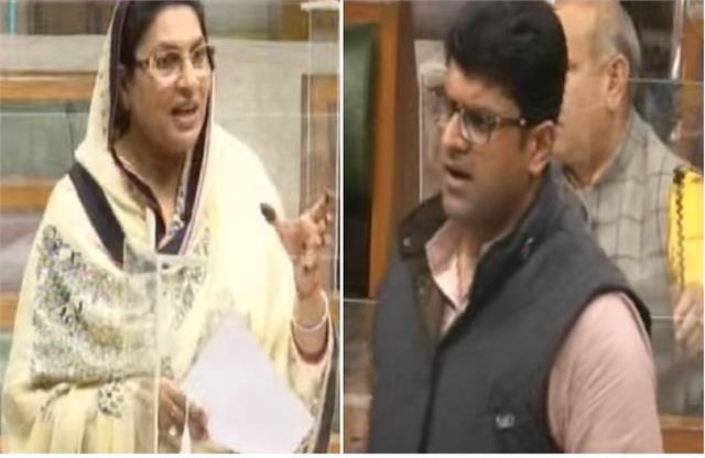 when mother naina chautala questioned deputy cm son dushyant in the assembly
