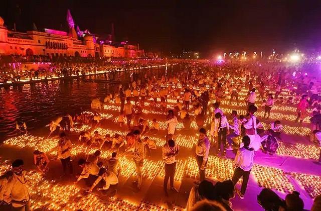 5 51 lakh lamps will be lit in ayodhya deepotsav
