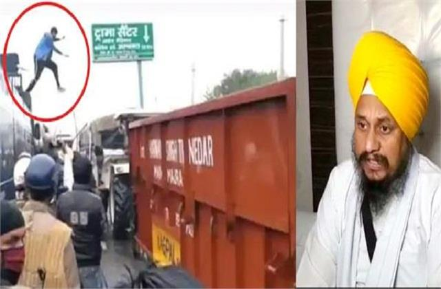 haryana police has registered a case on a punjabi youth who jumped from a car
