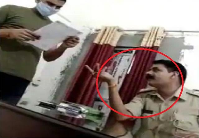 embarrassing face of up police bribe demanded from tree cutter video viral