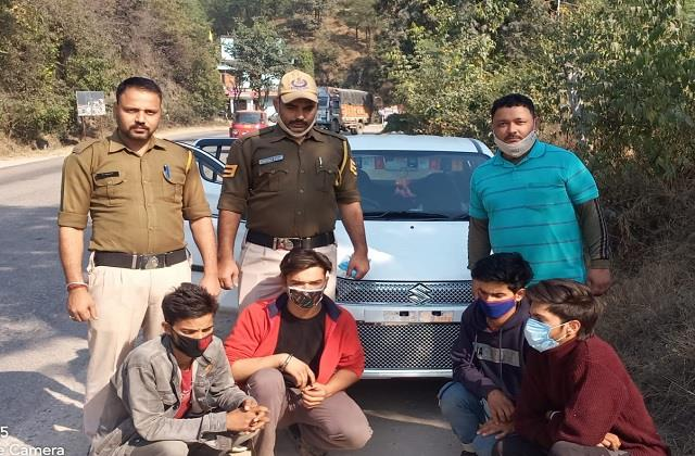 youth of kullu going to manali got nervous after seeing police then got it