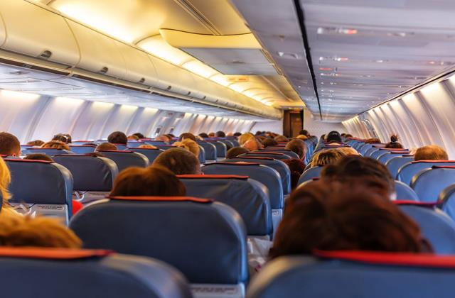 the number of passengers on domestic flights reached 65 percent