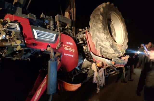 driver dies due to tractor overturning