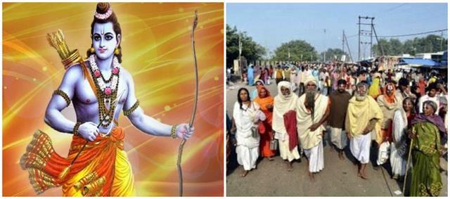 ayodhya famous fourteen kosi circumambulation started amid tight security