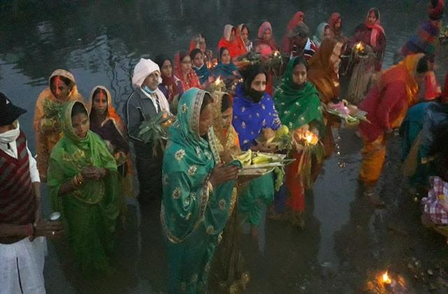 chhath puja celebrated with religious reverence
