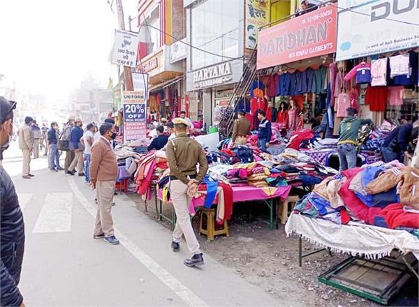 shops on footpath