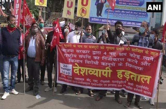 life strikes in kerala odisha other states due to nationwide general strike