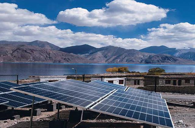 solar project installed in ladakh airforce station