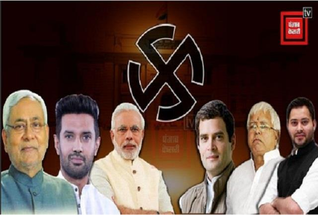 survey grand alliance emerging as the largest party in bihar elections
