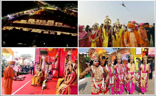 diwali in ayodhya world record made with 5 lakh 51 thousand diyas