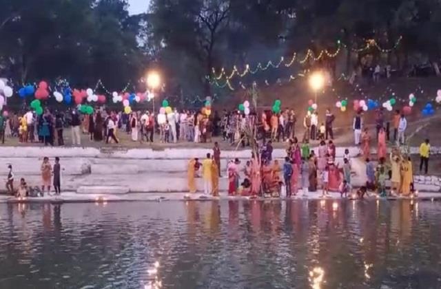 like bihar uttar pradesh chhath was celebrated in mp