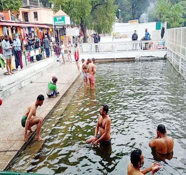 faith dip in renuka lake