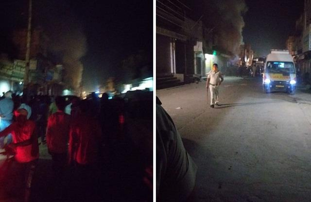 cylinder shop caught fire blasts one after the other